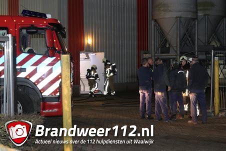 Brandje bij bedrijf Jonker Petfood aan de Vijzelweg Waalwijk