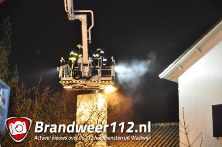 Brandweer rukt uit voor een schoorsteenbrand aan de Forestierlaan Waalwijk