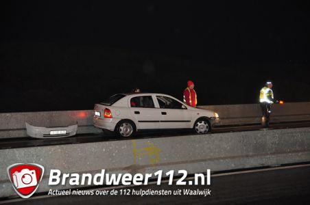 Bestuurder ramt vangrail op de Midden-Brabantweg Waalwijk