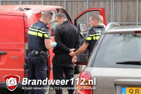 Politieachtervolging aan de Burgemeester Verwielstraat Waalwijk