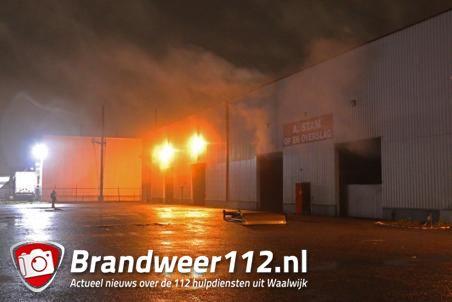 Brandweer moet weer uitrukken voor broei bij cacao-opslag A.Stam aan de Vijzelweg Waalwijk