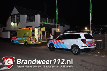 Man wordt onwel bij Café 't Snoekske aan de Valkenvoortweg Waalwijk