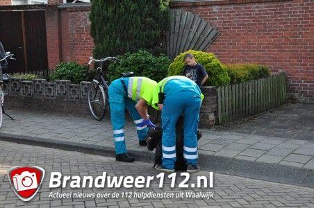 Man komt ten val met fiets aan de President Steynstraat Waalwijk