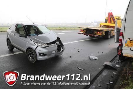 Spookrijder in brommobiel veroorzaakt botsing op A59 Waalwijk