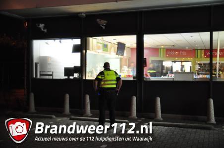 Total Baardwijk staat vol rook aan de Laageindse Stoep Waalwijk