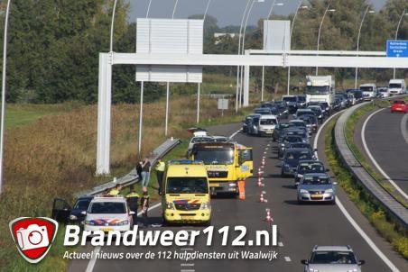 Ongeval op de Midden-Brabantweg Waalwijk