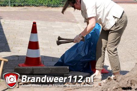 Mogelijk eeuwenoude menselijke resten gevonden in Waalwijk