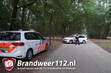 Dode man gevonden op bospad in Waalwijk, geen sprake van misdrijf