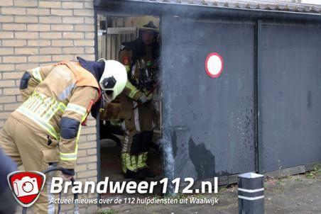 Poort in brand aan het Max Regerpark Waalwijk