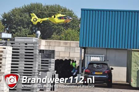 Man zwaargewond bij bedrijfsongeval De Ruijter International in Waalwijk