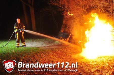 Weer brand gesticht bij speeltuin Lido in Waalwijk
