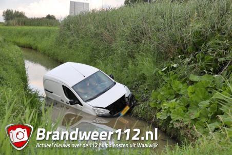 Bestuurder van auto rijdt de sloot in aan de Altenaweg Waalwijk