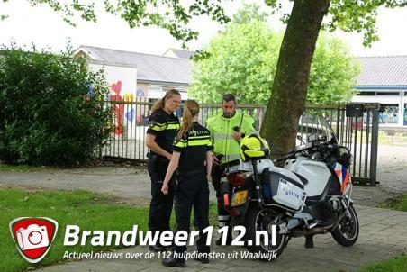 Politie houdt verwarde man aan in leegstaande school Waalwijk