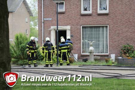 Man en vrouw naar ziekenhuis na woningbrand in Waalwijk