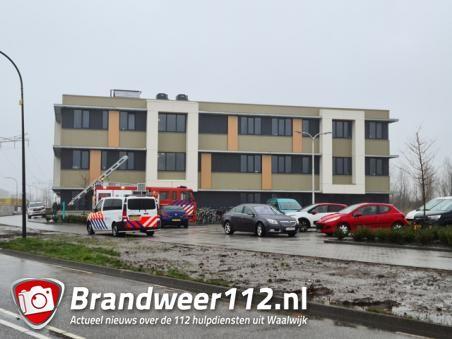 Brand in elektrische ruimte van migrantenhotel aan de Pompweg Waalwijk