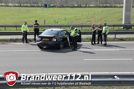 Ongeluk op Midden Brabantweg bij Waalwijk