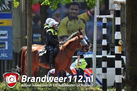 Politie inzet bij wedstrijd RKC- Excelsior aan de Akkerlaan Waalwijk