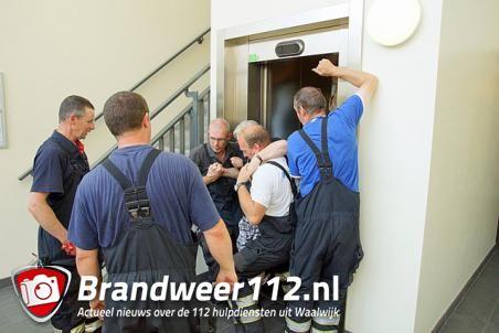 Moeder en dochter vast in lift aan het Koetshuislaan Waalwijk