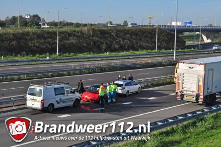 Gewonde bij ongeval op A59 bij Waalwijk