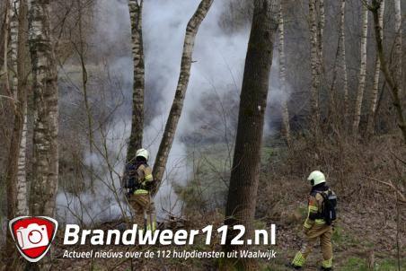 Buitenbrandje in bossen bij Het Lido Waalwijk