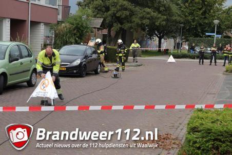Drie woningen ontruimd door gaslek aan de Van Vessemstraat Waalwijk