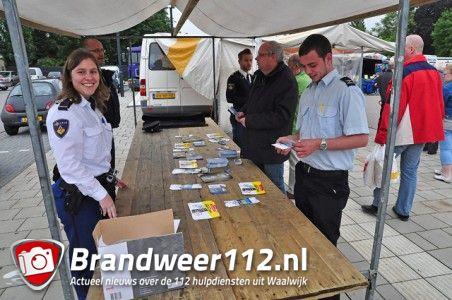 Actie door politie tegen zakkenrollers op weekmarkt aan winkelcentrum De Els Waalwijk