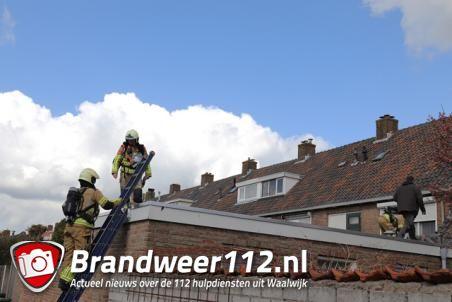 Brand op aanbouw aan de van Assendelftstraat Waalwijk