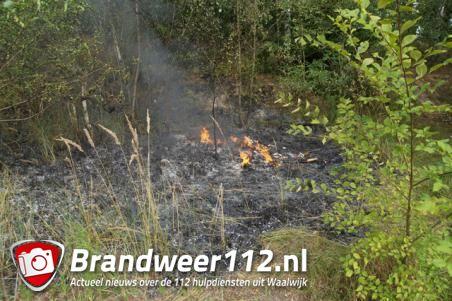 Wandelaars merken heidebrand in Waalwijk op, brandweer voorkomt erger