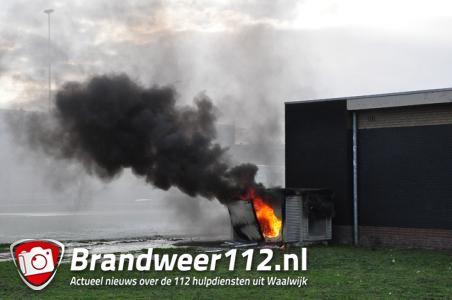 Brand verwoest stroomhuisje langs A59 bij Waalwijk: rook trok over snelweg