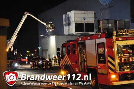 Brand bij diepvriesfabriek Oerlemans Food Waalwijk