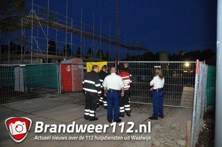 Wateroverlast op bouwterrein aan de Van Duvenvoordestraat Waalwijk