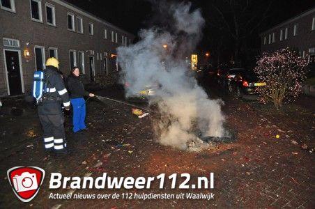 Klein buitenbrandje aan de Pater van de Elzenstraat Waalwijk
