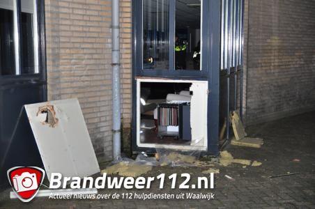 Veel schade bij inbraak aan de Professor Kamerlingh Onnesweg Waalwijk