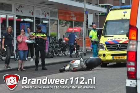 Man raakt gewond na val van scooter aan de Irenestraat Waalwijk