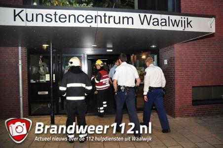 Brandgerucht bij Kunstencentrum aan de Irenestraat Waalwijk