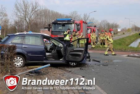 Ongeval op rotonde aan de Noorder-Allee Waalwijk
