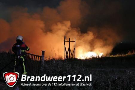 Buitenbrand aan de Zomerdijk in Waalwijk