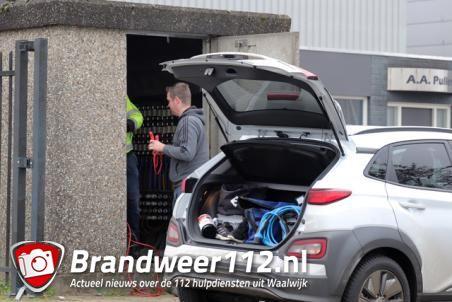 Bedrijven korte tijd zonder stroom aan de Spuiweg Waalwijk