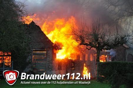 Brand in schuur slaat over op bakkerij in Waalwijk