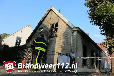 Brand laait weer op in woning aan de Grotestraat Waalwijk