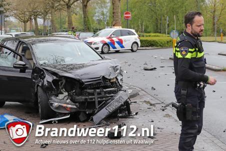 Flink ongeval aan de Burgemeester van der Klokkenlaan Waalwijk