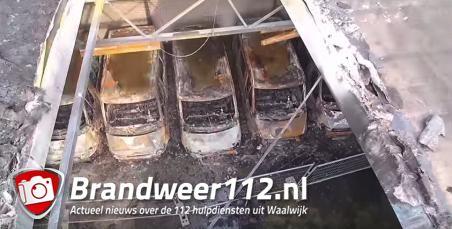 Video van uitgebrand bedrijf aan de Industrieweg Waalwijk