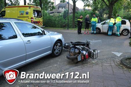 Bromfietser gewond door aanrijding aan de Akkerlaan Waalwijk