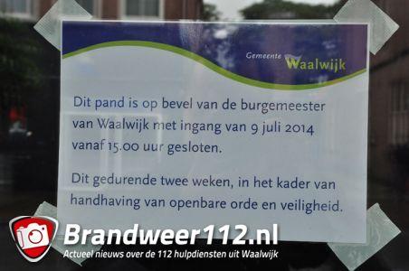 Burgemeester Kleijngeld sluit café Marquees voor 2 weken aan de Grotestraat Waalwijk