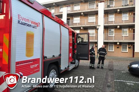 Klein brandje in woning aan de Anna van Burenstraat Waalwijk