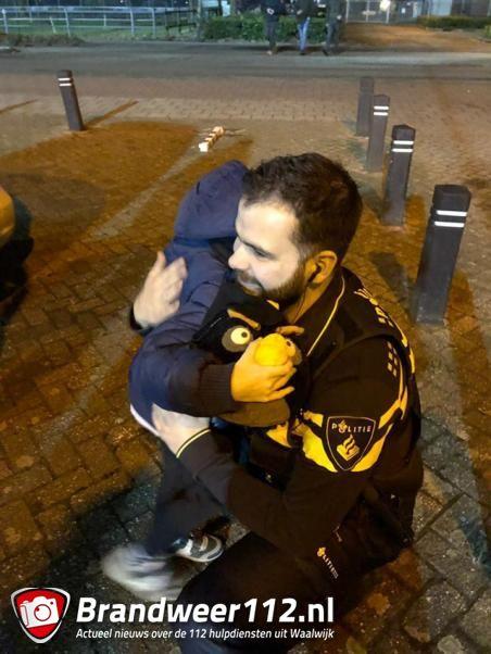 Avondje uit voor 7 jarige Julyan met de politie van Waalwijk