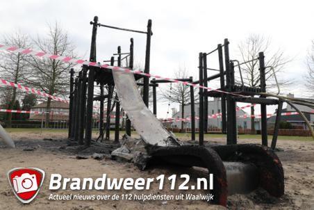 Minderjarige brandstichters speeltoestel Waalwijk melden zich op politiebureau