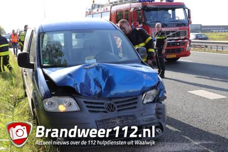 Man gewond door ongeval op de A59 (Maasroute) Waalwijk