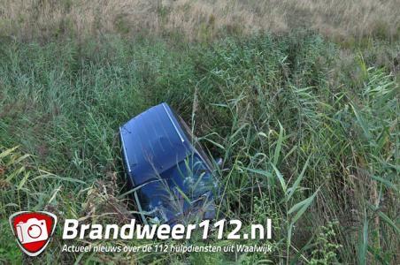 En wéér vliegt er een auto uit de bocht bij afslag Waalwijk-Oost
