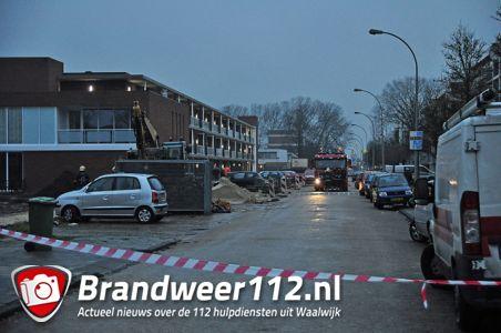 Gaslek aan de Noordstraat Waalwijk